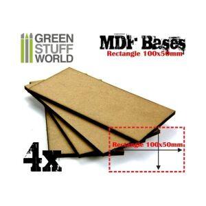 100x50mm rechteckige MDF Basen
