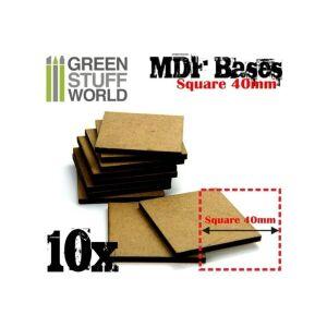 40 mm quadratische MDF Basen