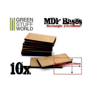 25x50mm rechteckige MDF Basen