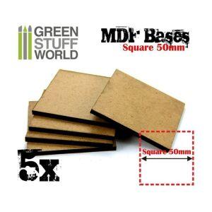 50 mm quadratische MDF Basen