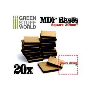 20 mm quadratische MDF Basen
