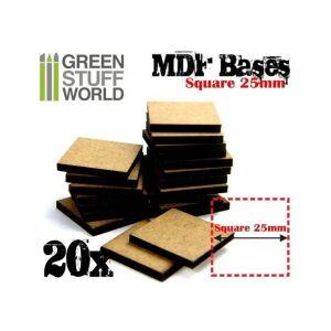 25 mm quadratische MDF Basen
