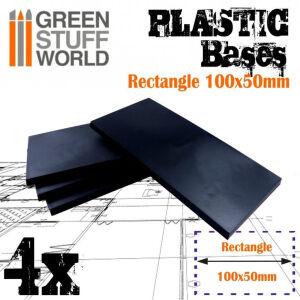 100x50mm rechteckige Kunststoffbasen