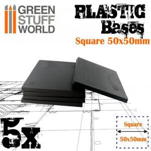 50x50 mm quadratische Kunststoffbasen
