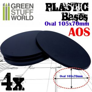 105x70mm AOS Oval Kunststoffbasen