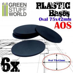 75x42mm AOS Oval Kunststoffbasen