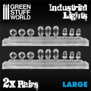 18x Industrielle Leuchten aus Harz - Grosse