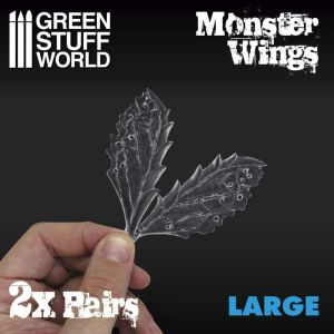 2x Monsterflügeln aus Harz - Grosse