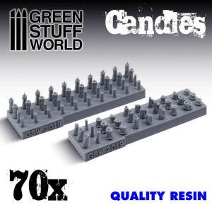70x Kerzen aus Harz