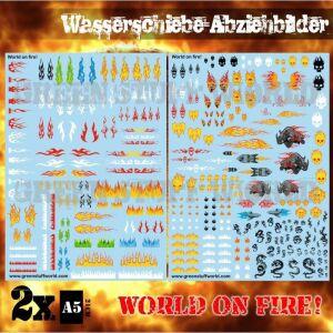 Wasserschiebe Abziehbilder - World on Fire