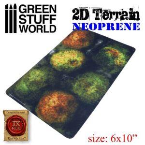 Neopren Gelände 2D - Wald mit 6 Bäumen