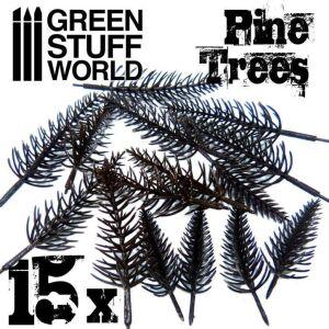 15x flexible Kunststoff-Kiefernbäume