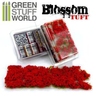 Blumenbüscheln - Selbstklebend - 6mm - ROTEN Blumen