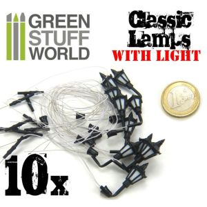 10x Klassische Wandleuchten mit LED