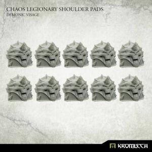 Chaos Legionary Shoulder Pads: Demon Visage (10)