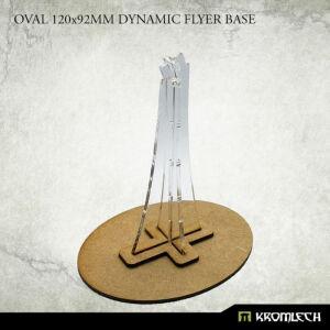 Oval 120x92mm Dynamic Flyer Base with acrylic stem (1)