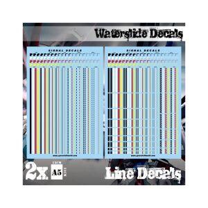 Wasserschiebe Abziehbilder - Linien