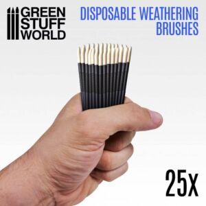 25x Weathering Einwegbürsten