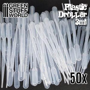 50x Airbrush lange Pipetten Set