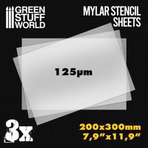 A4 Mylar-Schablonenblätter x3