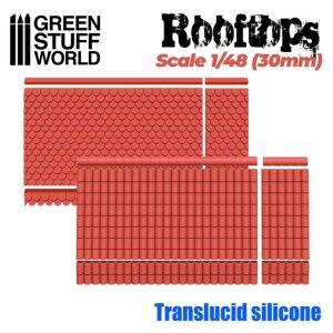 Silikon Texturplatten - Dach 1/48 (30mm)
