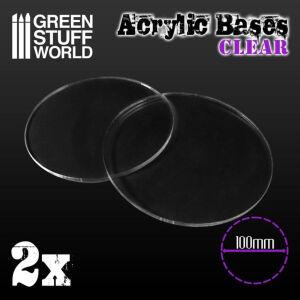 100 mm runde und transparent Acryl Basen