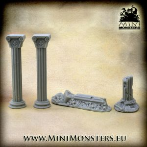 Ionic Ruined Columns