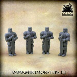 Knights Statue (4pcs)