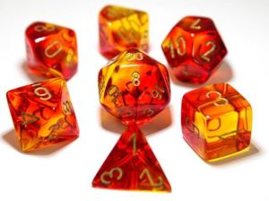 Gemini Translucent Red-Yellow gold polyhedral