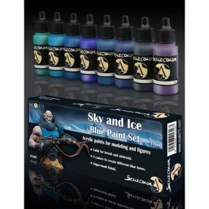 Sky&Ice Blue Paint Set