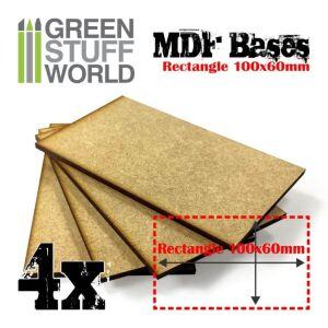 100x60mm rechteckige MDF Basen