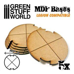 MDF Bases - Round 70 mm (Legion)