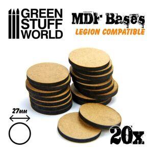 MDF Bases - Round 27 mm (Legion)