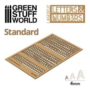 Buchstaben und Zahlen 4 mm Standard