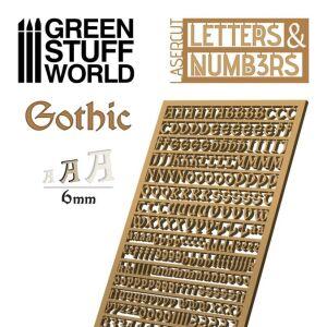 Buchstaben und Zahlen 6 mm GOTHIC