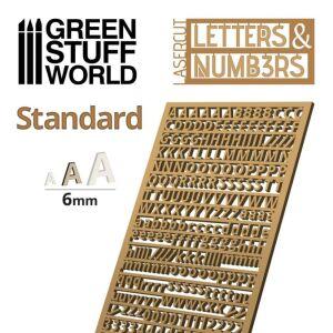 Buchstaben und Zahlen 6 mm STANDARD