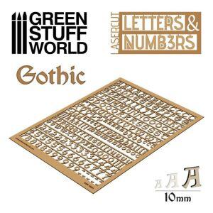 Buchstaben und Zahlen 10 mm GOTHIC
