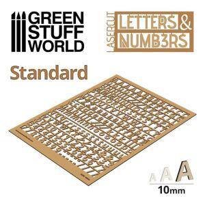 Buchstaben und Zahlen 10 mm STANDARD