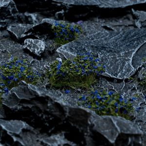 Blue Flowers Tufts