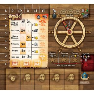Tiny Epic Pirates Player Mat Sets (Pack of 4)