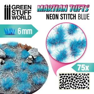 Gras Tuft Neon Stitch Blue