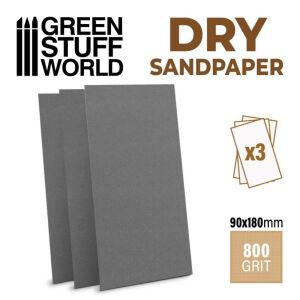 Schleifpapier 180x90mm - DRY 800 Körnung