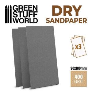 Schleifpapier 180x90mm - DRY 400 Körnung
