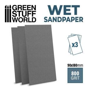 Naßschleifpapier 180x90mm - 800 Körnung