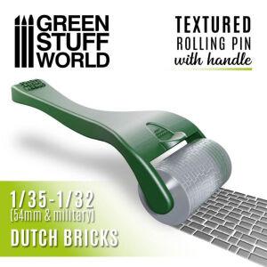 Strukturierte Walze mit Griff - Dutch Bricks
