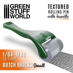 Strukturierte Walze mit Griff - kleine Holländische...