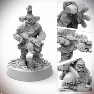 Starfinder Miniatures: Dwarf Soldier