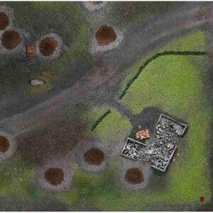 Battlefield Gaming Mat 3x3