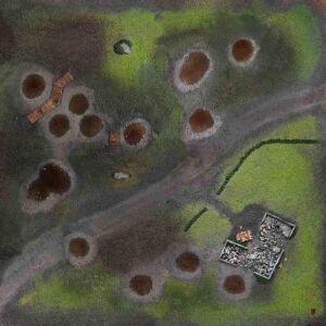 Battlefield Gaming Mat 4x4