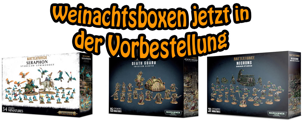 Weinachtsboxen von Games Workshop